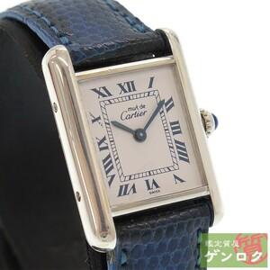 【中古】 カルティエ マストタンク レディース 腕時計 1614 回路交換済 CARTIER【質屋】【代引き手数料無料】