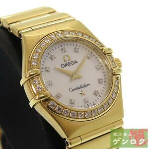 【中古】 オメガ コンステレーション 腕時計 レディース 1167-75(1167.75) 金無垢 K18イエローゴールド ダイヤモンド OMEGA