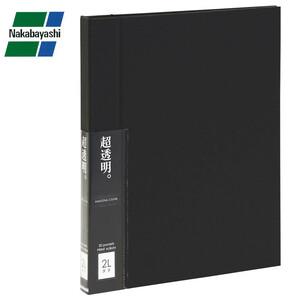 ナカバヤシ 超透明プリントアルバム 2L・LL 縦型 ブラック ホCX-2LS-D(a-1190965)