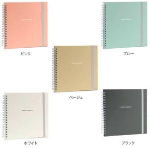 ナカバヤシ フリーアルバム フォトクロッキー リング式 Sサイズ ピンク・アKA-SWF-130-P(a-1383179)