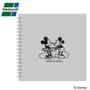 ナカバヤシ リング式アルバム ディズニー かける~のエアー台紙 Sサイズ ミッキー&ミニー グレー アKA-SWF-201-N(a-1130323)