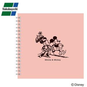 ナカバヤシ リング式アルバム ディズニー かける~のエアー台紙 Sサイズ ミッキー&ミニー ピンク アKA-SWF-201-P(a-1130324)