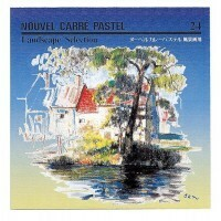 NOUVEL Carre´Pastels ヌーベルカレーパステル 風景画用24色セット NCTL-24 458041(a-8085bg)