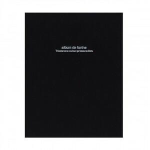 ナカバヤシ ドゥファビネ100年アルバム ビス式 A4 ブラック アH-A4D-161-D(a-1594238)