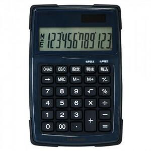 ナカバヤシ 電卓デスクトップ 防水タイプ S ブルー ECD-WR01BL(a-1595166)