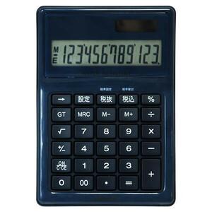 ナカバヤシ 電卓 デスクトップ 防水タイプ M ブルー ECD-WR02BL(a-1250145)