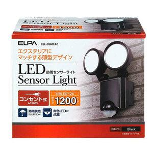 ELPA(エルパ) LEDセンサーライト 2灯 コンセント式 ESL-SS802AC(a-1167372)