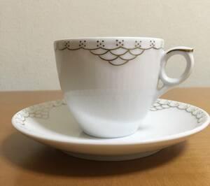 ロイヤルコペンハーゲン プリンセス ゴールド カップ&ソーサー USED 送料込み コーヒーカップ ロイコペ