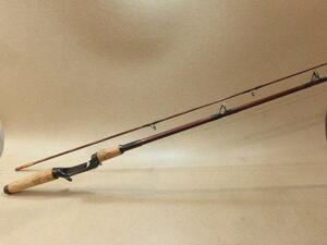 ヘドン Heddon パル Pal Pro Weight #6786 6 1/2 タバコグラス 2ピース ベイトロッド オールドロッド 訳あり品 (6-929