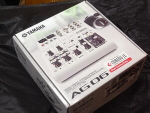 【即納・即決】新品・在庫有り・YAMAHA AG06・ウェブキャスティング・音楽・音声用6チャンネルミキサー・USBオーディオインターフェース・