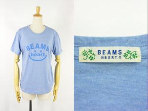 美品 送料360円 BEAMS HEART ビームスハート 半袖 プリントTシャツ スマイルロゴ #41392