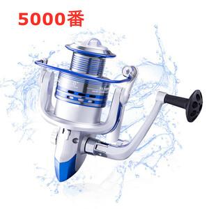YU115 5000番 スピニングリール 釣りリール リール 軽量 左右交換可能 最大ドラグ力8Kg 海水 淡水 両用 左右巻き ギア比:5.2:1