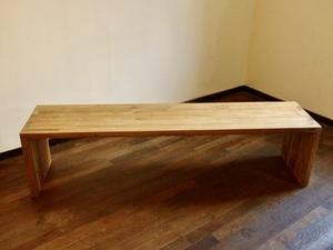 横幅180cmのチーク材のベンチ 長椅子 タイニングテーブルチエアー(テレビ台)デイスプレーテーブル 1104