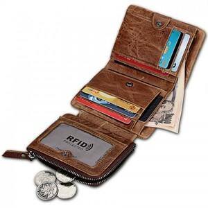 三つ折り 財布 メンズ 本革 高級 牛革 使用 ヴィンテージ加工 ハンドメイド 多機能 大型小物入れ カード入10枚 43 茶色