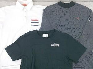 ◇ Puma プーマ まとめ売り3点セット サイズM&L ポロシャツ 長袖 半袖 Tシャツ カットソー メンズ 1002800839636
