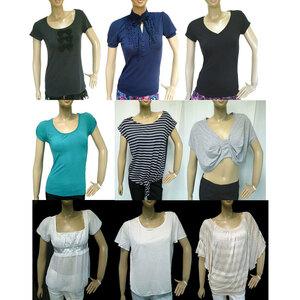 全品ブランド 半袖カットソー Tシャツ 福袋 9点 キレイ系 S L M マウジー ミッシュマッシュ H&M ロペ INDIVI スライ まとめ売り まとめて