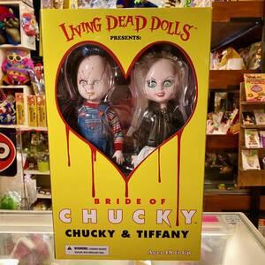 リビングデッドドールズ ブライドオブチャッキー チャッキー ティファニー 2体セット Living Dead Dolls Bride of Chucky Chucky Tiffany