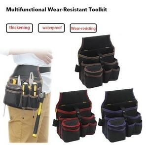 h1843 電気技師ツールバッグ ベルトウエストポケットケース高容量道具袋ウエストポケット