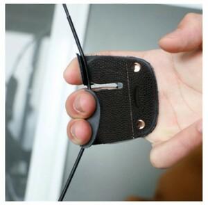 h1792 アーチェリー指ガード 保護パッドグローブ 弓矢牛革プロテクター
