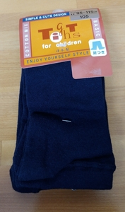 [New] Children Painting Tights Daily Size: 105 (95-115cm) COL: Navy Shipping 198 yen-Included OK! No.d