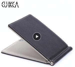 A293 薄型財布 クリップタイプ 二つ折り カードケース シンプルデザイン カラー選択可