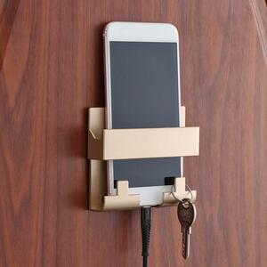 壁の充電器ホルダースタイルラック携帯電話充電ブラケットクレードルリガークラスプキーリングフック携帯電話充電ホルダー収納ハンガー