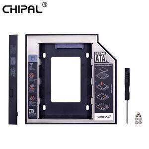 Chipal 2nd hddキャディー 12.7 ミリメートル 9.5 ミリメートルsata 3.0 2.5 ''hdハードディスクドライブのエンクロージャssdケースボック
