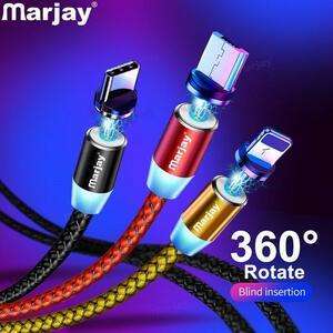 Marjay磁気マイクロusbケーブルiphoneサムスンandroid用急速充電マグネット充電器usbタイプcケーブル携帯電話コードワイヤー