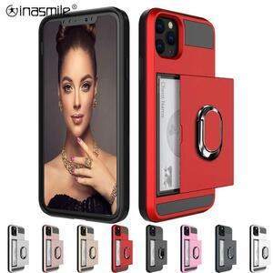 かなりスライドカード電話ケースS20超S10 S9 S8プラスS7エッジ注20 10 9 8 A3 A5 A7 A8ホルダーリングカバー
