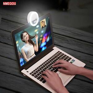 ポータブルselfieフラッシュledカメラ写真撮影リング光のノートパソコンのmacbook air proのノート用スタンドホルダーサポートアクセサリ