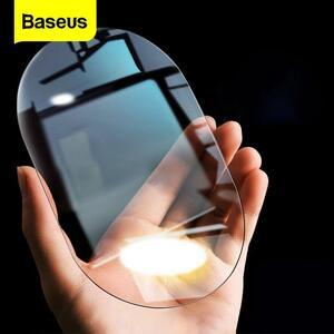 Baseus 2個車のバックミラー防雨フィルム0.15ミリメートルクリアリアビューミラーアンチフォグ保護フィルム窓箔車のステッカー