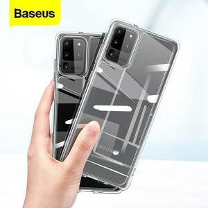 S20 baseusクリア電話ケースプラス超ケースcoque薄型ソフトtpu透明バックカバー用s20 fundas