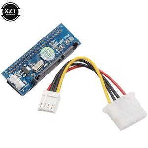 Sata ideアダプタ 40 ピンideにsataコネクタ 3.5 hdd ideハードディスクdvdバーナーアダプタコンバータ 7Pin-SATAデータケーブル