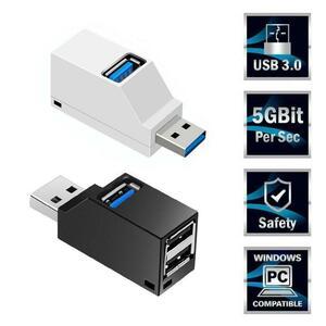 1 pc 3 ポート usb ハブミニ usb 3.0 高速ハブデスクトップポータブルマルチスプリッタボックス拡張アダプタデスクトップ pc のラップトッ