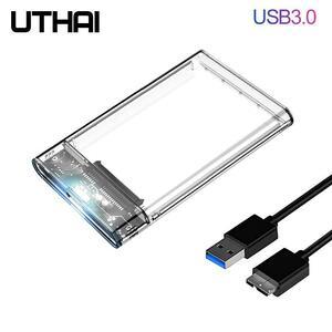 Uthai G06 USB3.0/2.0 hddケース 2.5 インチシリアルポートsata ssdハードドライブケースサポート 6 テラバイト透明携帯外部hddケース