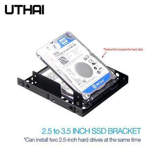 Uthai G16 厚い二層ハードドライブブラケット 2.5 3.5 インチディスクベイノートブック/ラップトップ固体状態ドライブブラケットssd