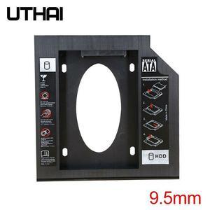 UTHAI T02 CD-ROM ドライブ SSD ハードドライブキャディノートパソコンの内部エンクロージャ 2.5 インチ SATA I II III HDD ドライブ 9.5