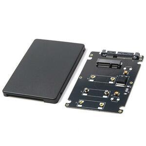 ミニ pcie msata ssd 2.5 インチ SATA3 アダプタカードケース 7 ミリメートル厚さと黒