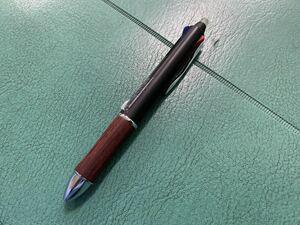 【美品】 パイロット 多機能ペン フリクションボール ウッド PILOT FRIXION BALL WOOD 消せる ボールペン ブラック
