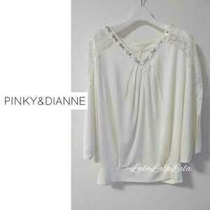 PINKY&DIANNE ピンキー&ダイアン ブラウス カットソー トップス ドレス ビジュー レース レディース 38