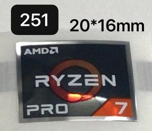 251# [AMD RYZEN PRO 7] эмблема наклейка #20*16.# условия имеется бесплатная доставка