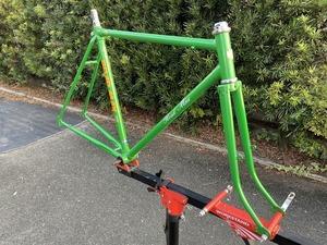 昭和自転車 SYOWA ROADMAX ビンテージ ロードフレーム 当時物 昭和レトロ グリーン 長期保管品