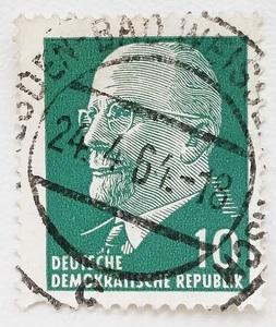 東ドイツ切手 普通切手 ヴァルター・ウルブリヒト 1961年発行 郵便 郵趣 欧州 ヨーロッパ 歴史 東欧 政治 独 国家元首 ドイツ民主共和国