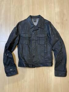 名作☆超希少初期 Dior homme ディオールオム デストロイデニム ジャケット 48 4EH1049686 エディ