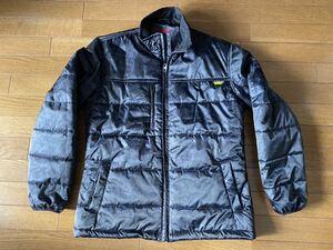 再値下げ!送料無料 美品 中綿ジャケット 迷彩ブラック 黒 表地 PVCコーティング 大きいサイズLL状態良好