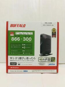 BUFFALO バッファロー 無線LAN親機 無線LANルーター WSR-1166DHP4-BK 11ac対応 866+300Mbps