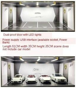 1:18シミュレーション車モデル地下ガレージモデル駐車場シーン表示ボックス防塵収納キャビネットアート
