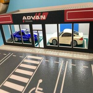 1/64車モデルシーン展示ホール修理修正された工場建築ジオラマhoトレインnスケール