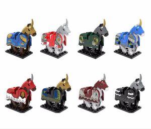 馬 8体セット ミニフィグ LEGO 互換 ミニフィギュア レゴ互換 ma