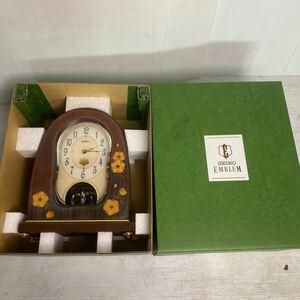 SEIKO/ Seiko EMBLEM/ эмблема радиоволны настольные часы HW927B. внутри . общий . большой ... умение интерьер класть часы .. Sakura документ мелодия -6 искривление